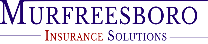 Murfreesboro Insurance Solutions logo in blue and red